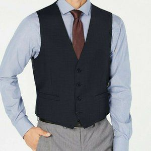 $125 Calvin Klein Men's Suit Vest Size Medium Navy